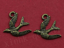 Wholesale 20~200X Lovely Swallow bird charm Pendant Antique Bronze Jewelry DIY