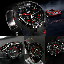 Sport Analog Quartz Fashion Black Stainless Steel Luxury Mens Wrist Watch