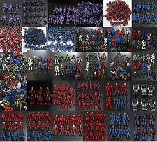 lot mega halo UNSC Marine COMBAT UNIT Blue Marine red Combat Elite Command Brute