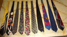 Brand New Mixed Brand Lot Of 10 Men's Ties - Lot GG