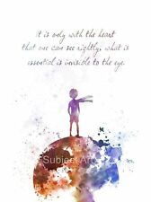 ART PRINT The Little Prince Quote illustration, Le Petit Prince, Wall Art