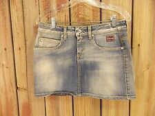 Roy Rogers Skirt Nichol Judd Blue Denim Mini Distressed Karim Size M Cute