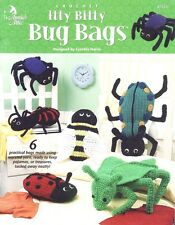 Itty Bitty Bug Bags, Annie's Attic Child Toy Doll Crochet Pattern Booklet 872251
