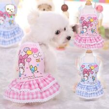 Cute Pet Dog Summer Clothes Cotton Lovely Puppy Skirt  Apparel Pet Supplies