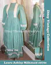 Laura Ashley green dress - Ditsy Vintage - Size 8 1970s Victoriana Prairie