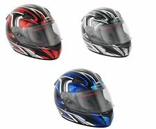 Stealth Motorcycle Bike Scooter Full Face Daisho HD188 Road Racing Helmet