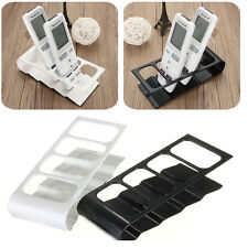VCR TV DVD Step Remote Control Cell Phone Holder Stand Multiple Storage Box