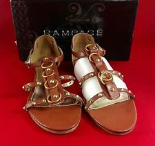 Rampage Gianetta Womens Shoes Brown Open Toe Dress Sandals NEW