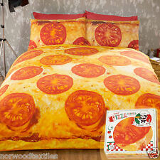 Novelty PIZZA Duvet Quilt Cover Bedding Set Hot Food Fun Design Ideal Gift