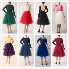 5 Layers Knee Length Dresses Tulle Skirt Celebrity Skirts Womens Tutu Ball Gowns