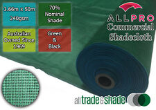 Commercial/Horticultural Shadecloth/Shade Cloth 70% 3.66M x 50M Black OR Green