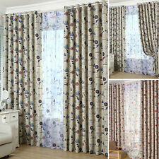 Blockout Kids Red Blue Sheer Curtains Drapes Or See Through Tulle Sheer Curt