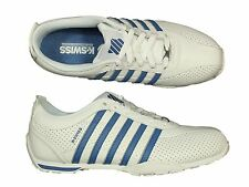 MENS TRAINERS K.SWISS ARVEE1.5 03941-181-M WHITE LACE UP LEATHER ALL SIZES 6-12