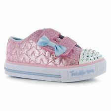 Skechers Childrens Girls Twinkle Toes Starlight Infants Sneakers Canvas Lo Shoes