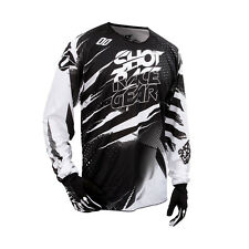 SHOT 2016 MEN'S MOTOCROSS / MTB JERSEY - DEVO CAPTURE - SchwarzWhite