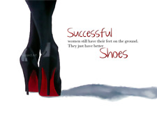 CHRISTIAN LOUBOUTIN Black Shoes ART PRINT, Fashion Quote, Successful, Wall Art