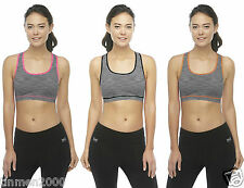 New Womens Top Fitness Running Gym Training Sports Bra Crop Top Size 8101214