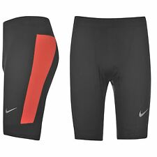 Nike Dri-Fit Running Tights Shorts Mens Black/Red Jogging Fitness Sportswear