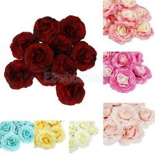 10Pcs Simulation Camellia Silk Flowers Heads Hat Clothing DIY Decoration Crafts