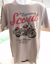 Genuine Indian Motorcycle Short Sleeved Gray Colored Scout Script Tee USA