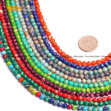 """Sea Sediment Stone Beads For Jewelry Making 15"""" Round Jewelry Beads Wholesale"""