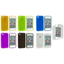 TPU Diamond Pattern Cover Case+Screen Protector for iPhone 4S 4G 4 Accessory