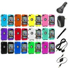 DELUXE COLOR BLACK CASE FOR IPOD TOUCH 4 4G 4TH GEN+PROTECTOR+ACCESSORIES