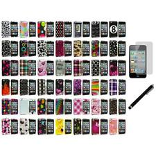 Color Design Hard Snap-On Case Cover+LCD Film+Stylus for iPod Touch 4th Gen 4G