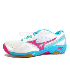 Mizuno Wave Twister 3 [V1GA147264] Volleyball Badminton White/Pink-Aqua