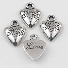 Wholesale 10/20Pcs Carved Tibetan Silver Charms Pendants Crafts DIY 14*11mm Gift