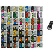 Design Hard Rubberized Color Snap-On Case Cover+2.1A Charger for iPhone 4 4S 4G
