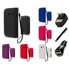 For Samsung Galaxy Ace Style Wallet Flip Pouch Case Cover Charger+Stylus