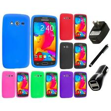 For Samsung Galaxy Avant G386 Silicone Rubber Case Cover Charger+Stylus