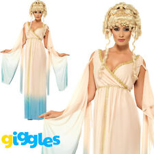 Ladies Greek Princess Costume Goddess Toga Cleopatra Queen Fancy Dress Outfit