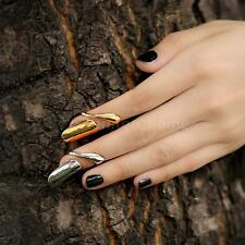 Punk Gothic Fashion Finger Tip Opening Nail Ring Silver Golden For Girl Lady US