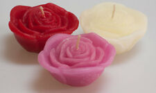 Floating Candles Pink White or Red Rose Scented Candle Handmade Romantic Wedding