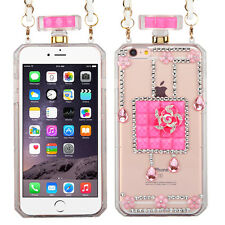 Pretty Crystals Flowers Perfume Bottle Cover Phone Case Apple iPhone 6 6S Plus
