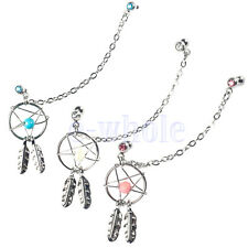 1X Dream Catcher Ear Piercing Cartilage Stud Earring Dangle Helix Tragus Cuff HM
