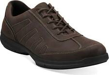 Clarks WAVE HELIX Mens Brown Nubuck 62041 Lace Up Causal Dress Oxfords Shoes