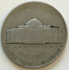 1939 Jefferson Nickel 5 Cents Coin - Free Postage