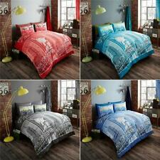 Inspire 4Pcs Complete Duvet Cover + Fitted Sheet Pillow Quilt Case Bed Set