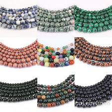 Hot 1 Bunch Gemstone Round Loose Spacer Beads Stone Beads Necklace 4/6/8/10/12mm