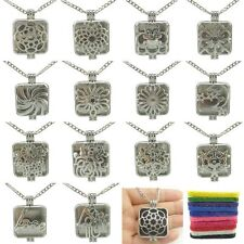 Dull Square 26mm Pad Sunflower Gear Star Moon Perfume Diffuser Locket Necklace