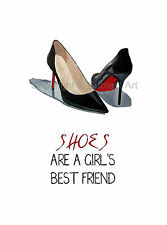 CHRISTIAN LOUBOUTIN Black Shoes ART PRINT, Fashion Quote, Wall Art, Gift