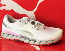 PUMA OSURAN-Mens Running New Shoes-White/Silver/Red-185788 03