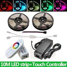32.8ft 5050 RGB LED Strip Light Tape with Touch Controller RF Full Kit+10A Power