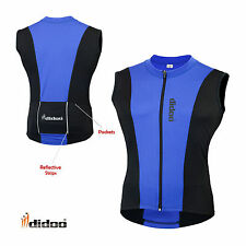 New Men's Cycling Sleeveless Shirts Bicycle Racing Full Zipper Jersey Sports Top