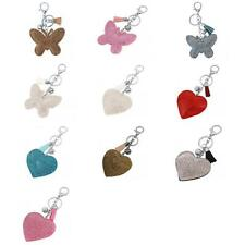 Soft Diamante Butterfly/ Heart Rhinestone Pendant Purse Bag Keyring Key Chain