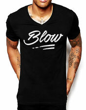 Distinkt Youth Blow V Neck T Shirt Men Deep Cocaine Powder Graphic Ibiza Club