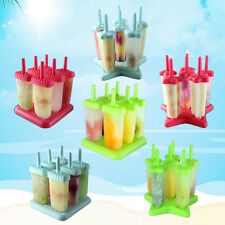 6 Pcs Creative Popsicle Ice Cream Pop Lolly Lollies Mould Maker Red/Blue/Green